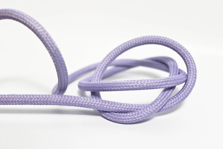 Textilkabel-Hängeleuchte Kunststoff flieder