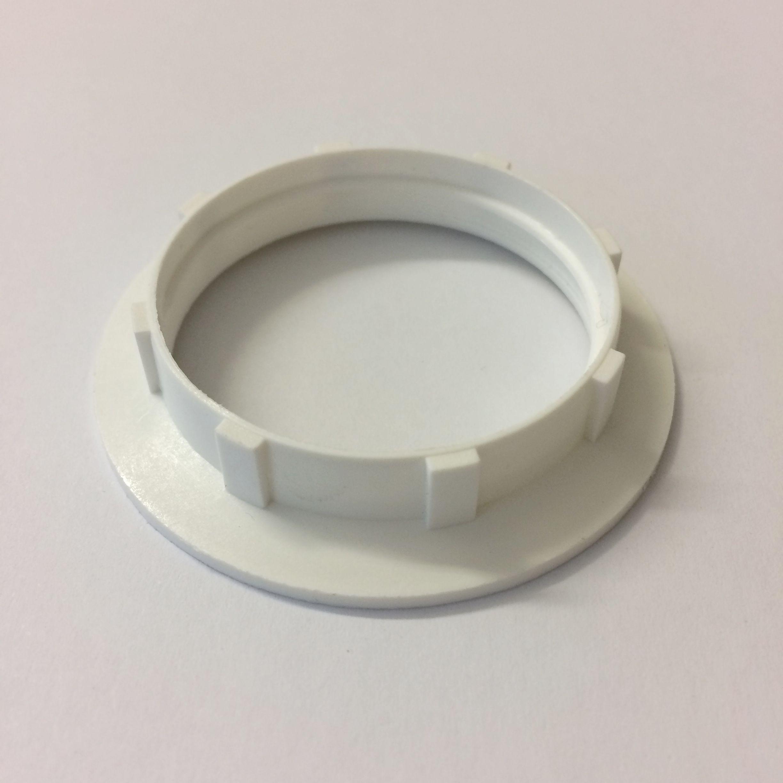 Kunststoff Schraubring E27 weiß