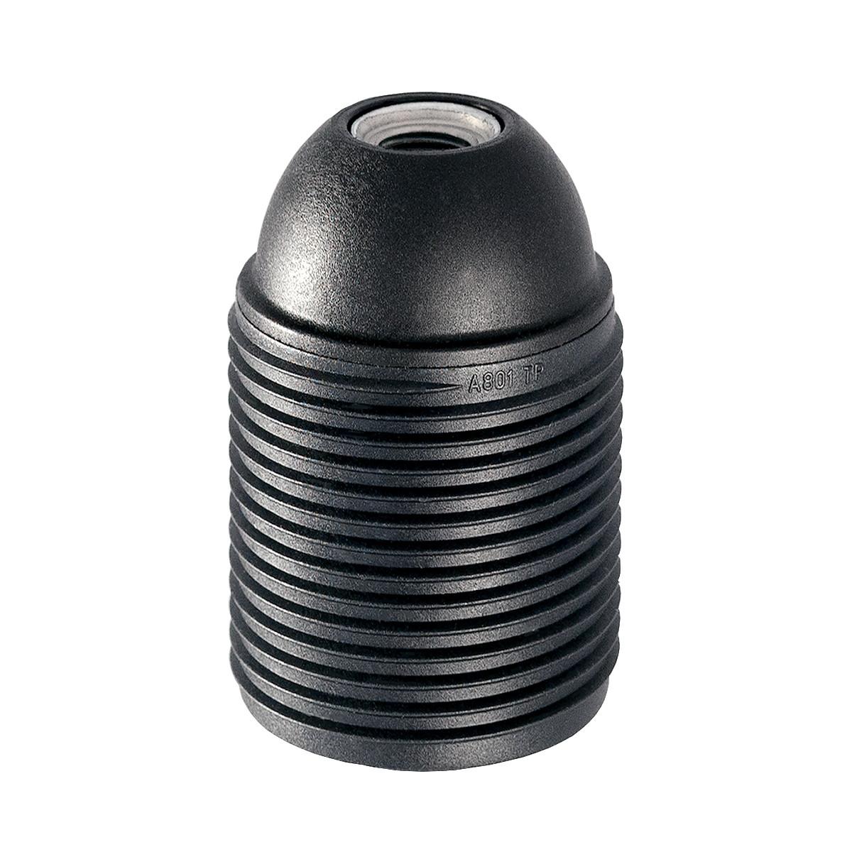 Kunststofffassung E27 mit Außengewinde schwarz