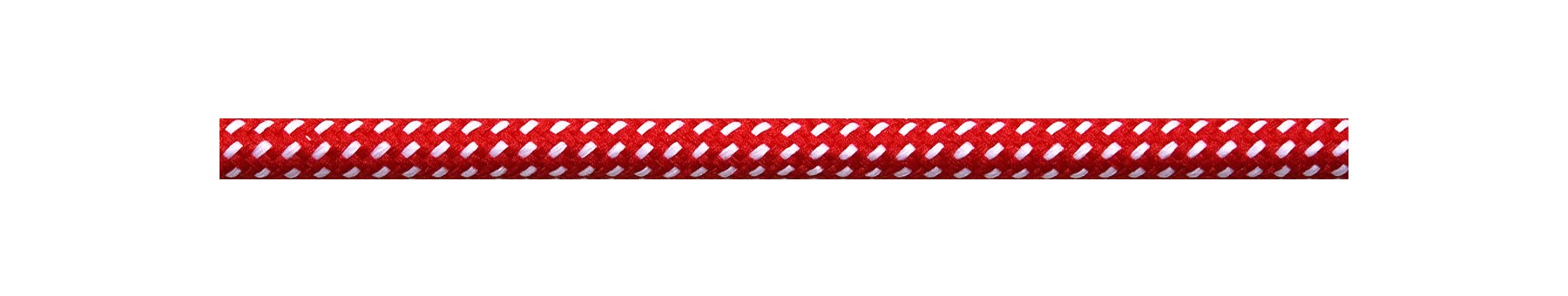 Textilkabel Rot-Weiß Gepunktet