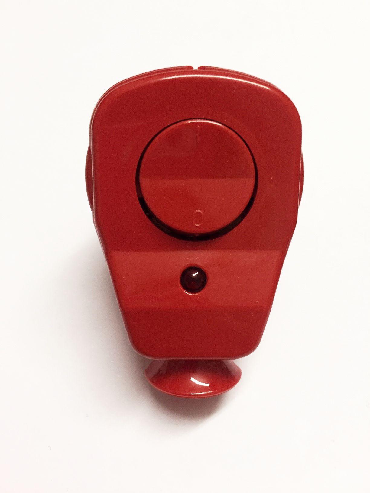 Schuko Winkelstecker mit Schalter und Diode rot