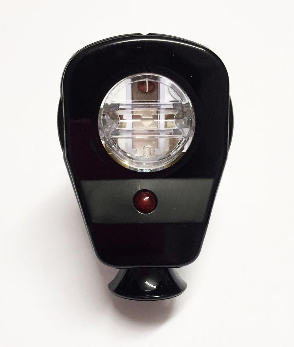Schuko Winkelstecker mit Schalter und Diode schwarz-transparent