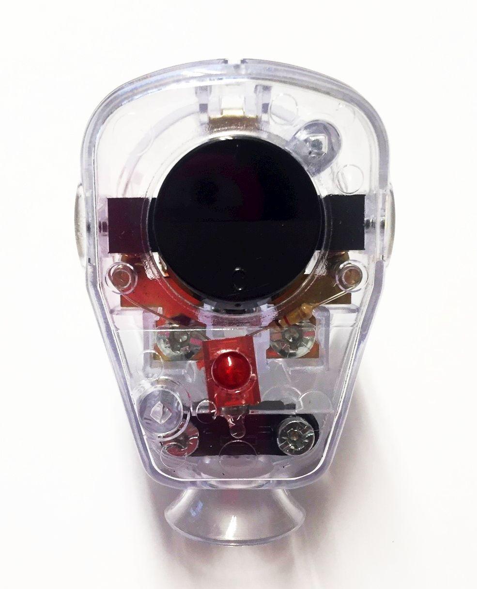 Schuko Winkelstecker mit Schalter und Diode transparent-schwarz