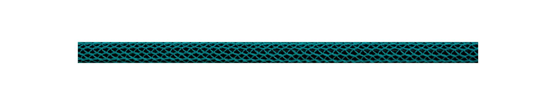 Textilkabel Türkis-Schwarz Netzartiger Textilmantel