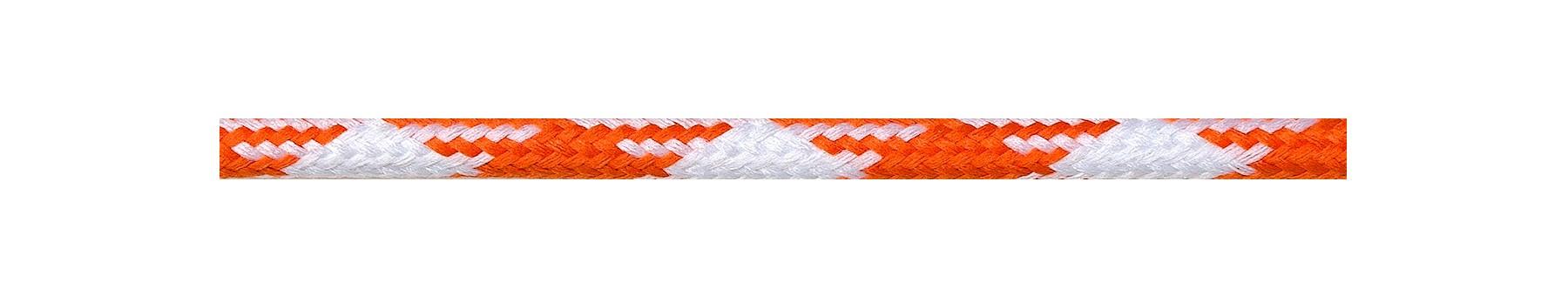 Textilkabel Weiß-Orange