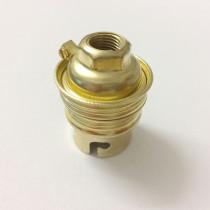 Metallfassung B22 mit Außengewinde und Ring gold