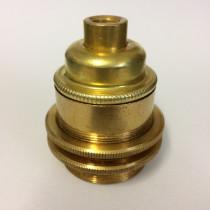 Metallfassung E27 antik mit  Aussengewinde gold