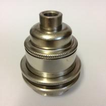 Metallfassung E27 antik mit  Aussengewinde nickel