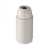 Kunststofffassung E14 mit Außengewinde weiß glänzend