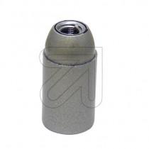 Kunststofffassung E14 mit Glattmantel silber