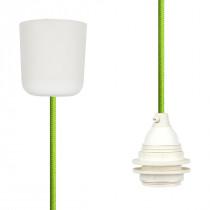 Textilkabel-Hängeleuchte Kunststoff apfelgrün