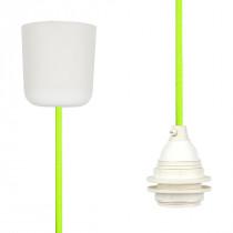Textilkabel-Hängeleuchte Kunststoff neon grün gelb