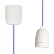Textilkabel-Hängeleuchte Porzellan flieder