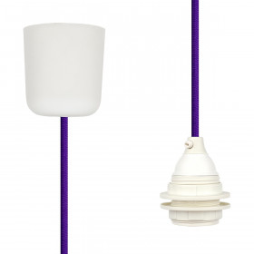 Textilkabel-Hängeleuchte Kunststoff lila