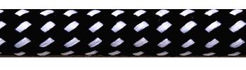 Textilkabel Schwarz-Weiß Gepunktet
