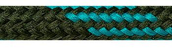 Textilkabel Braun-Grün