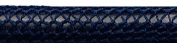 Textilkabel Dunkelblau Netzartiger Textilmantel