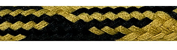 Textilkabel Gold-Schwarz