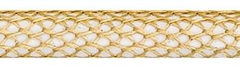 Textilkabel Gold-Weiss Netzartiger Textilmantel
