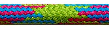Textilkabel Grün-Kirschrot-Türkis