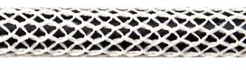 Textilkabel Matt-Weiß-Schwarz Netzartiger Textilmantel