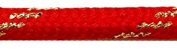 Textilkabel Rot-Gold