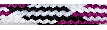 Textilkabel Weiß-Schwarz-Kirschrot