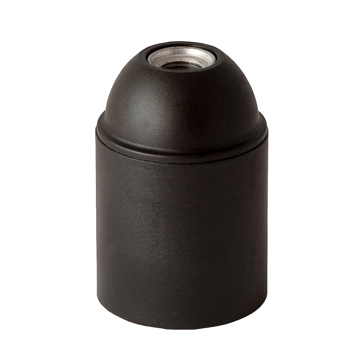 Plastic Lamp Holder E27 Unthreaded Black
