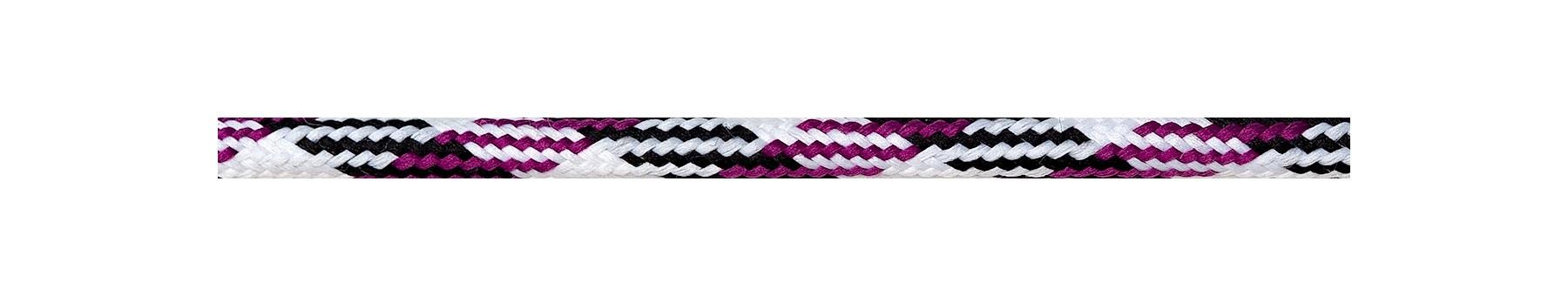 Textile Cable White-Black-Cerise