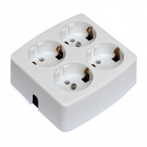 4 Socket Outlet White