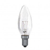 Candle Bulb Clear E14 25W 40W 60W Pack of Two
