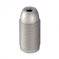 Plastic Lamp Holder E14 With External Thread Silver