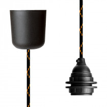 Pendant Lamp Plastic Black Orange