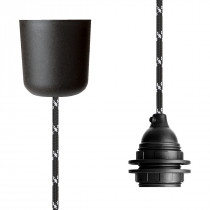 Pendant Lamp Plastic Black White