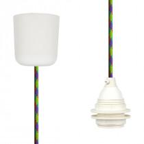 Pendant Lamp Plastic Green-Cerise-Turquoise