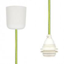 Pendant Lamp Plastic Green-Yellow Netlike