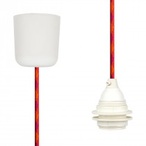 Pendant Lamp Plastic Orange-Cerise-Cerise