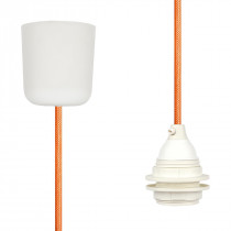 Pendant Lamp Plastic Orange Netlike