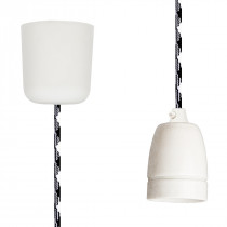Pendant Lamp Porcelain Black-White
