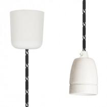 Pendant Lamp Porcelain Black White