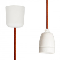 Pendant Lamp Porcelain Copper