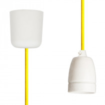 Pendant Lamp Porcelain Empire Yellow
