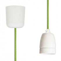 Pendant Lamp Porcelain Green-White Spots