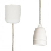Pendant Lamp Porcelain Off White Netlike