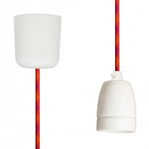 Pendant Lamp Porcelain Orange-Cerise-Cerise