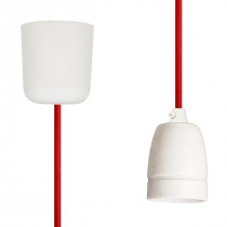 Pendant Lamp Porcelain Red