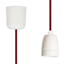 Pendant Lamp Porcelain Red Netlike