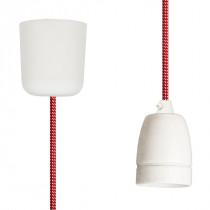 Pendant Lamp Porcelain Red-White Spots