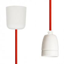 Pendant Lamp Porcelain Rust Red