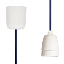 Pendant Lamp Porcelain Steel Blue